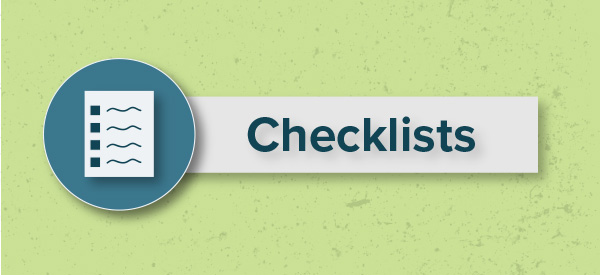 Checklists for the Consideration Stage of the Buyer's Journey