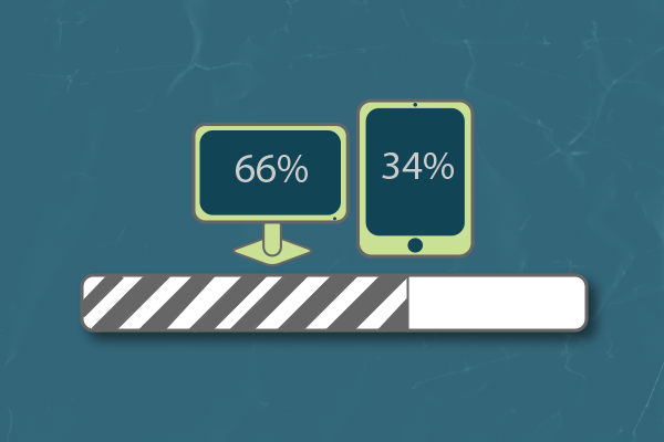 mobile devices are responsible for 34% of emails opened